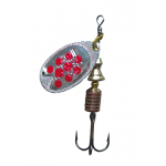 Abu Garcia -  Fast Attack Spinners Silver-Red Dot - 10g; 5cm